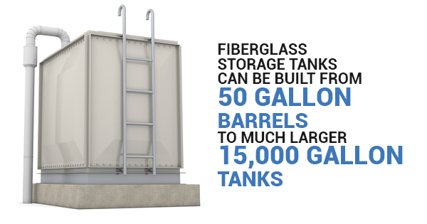 big metal water tanks